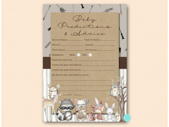 tlc645-prediction-advice-card-boho-woodland-baby-shower-games