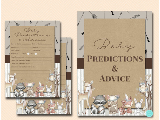 tlc645-prediction-advice-sign-boho-woodland-baby-shower-games