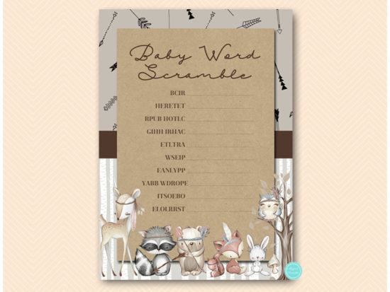 tlc645-scramble-baby-words-boho-woodland-baby-shower-games