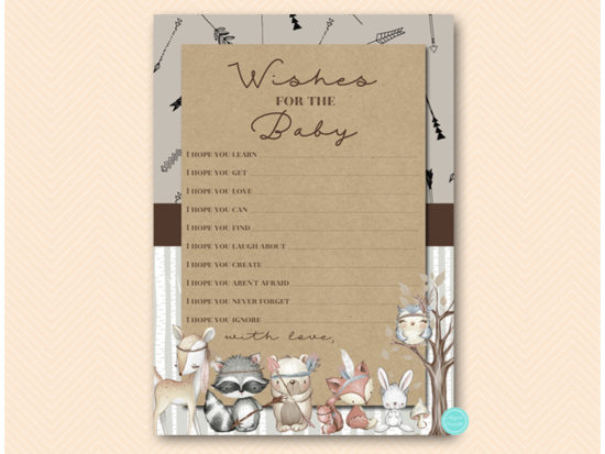 tlc645-wishes-for-baby-card-woodland-baby-shower-games