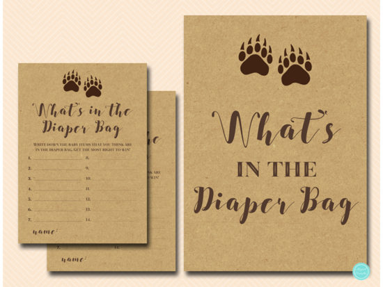 tlc648-whats-in-diaper-bag-sign-mama-bear-baby-shower-games