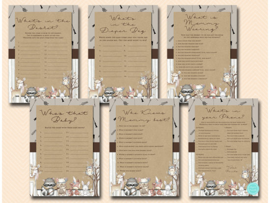 tlc645-rustic-boho-woodland-baby-shower-game-package-printables