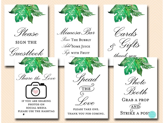 tropical-jungle-party-decoration-table-signs