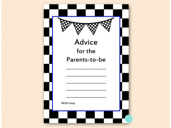 tlc113n-advice-parents-blue-racing-car-baby-shower