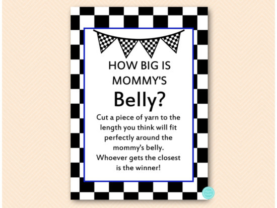 tlc113n-how-big-is-mommys-belly-blue-racing-car-baby-shower