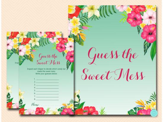 tlc650-guess-the-sweet-mess-card-luau-hawaiian-baby-shower-game