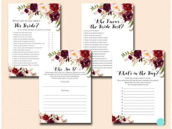 burgundy-floral-bridal-shower-wedding-games