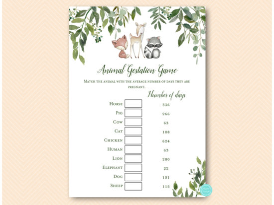 tlc653-animal-gestation-game-greenery-woodland-baby-shower-game