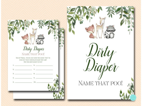 tlc653-dirty-diaper-sign-greenery-woodland-animals-baby-shower-game