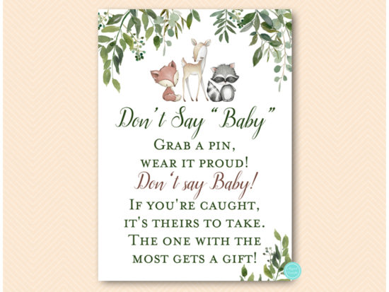 tlc653-dont-say-baby-greenery-woodland-animals-baby-shower-game