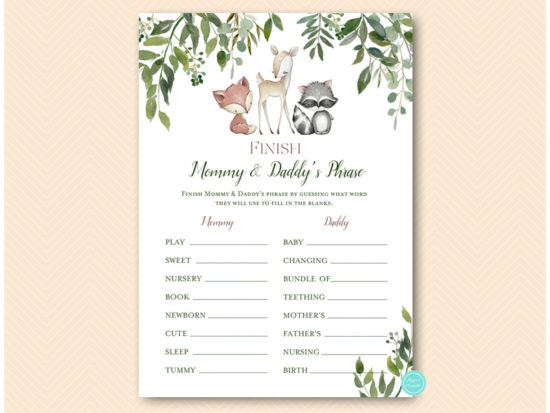 tlc653-finish-daddy-mommy-phrase-greenery-woodland-animals-baby-shower-game