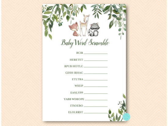 tlc653-scramble-baby-greenery-woodland-animals-baby-shower-game
