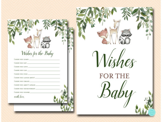tlc653-wishes-for-baby-sign-greenery-woodland-animals-baby-shower-game