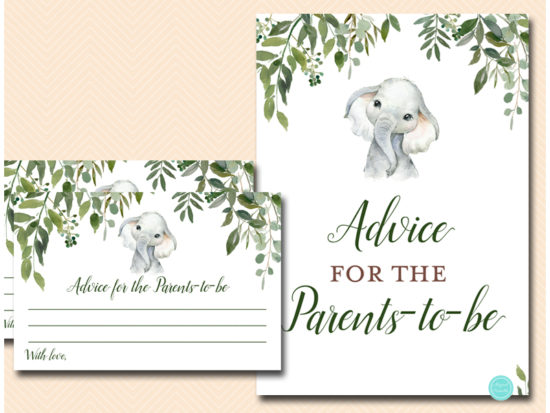 tlc663-advice-for-parents-card-greenery-elephant-baby-shower-game