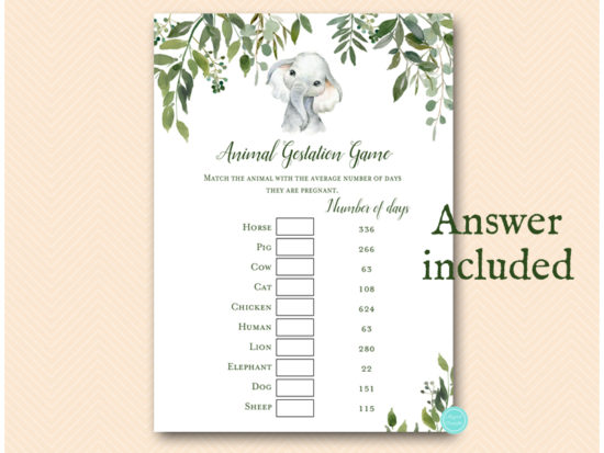 tlc663-animal-gestation-greenery-elephant-baby-shower-game