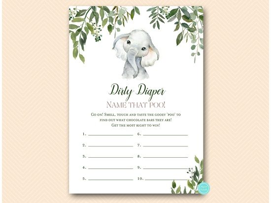 tlc663-dirty-diaper-card-leafy-elephant-baby-shower-game