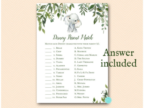 tlc663-disney-parent-match-leafy-elephant-baby-shower-game