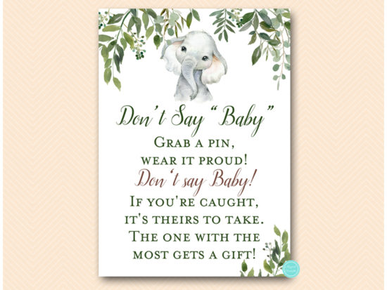 tlc663-dont-say-baby-leafy-elephant-baby-shower-game