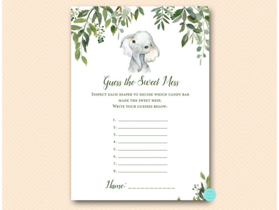 tlc663-guess-sweet-mess-safari-elephant-baby-shower-game
