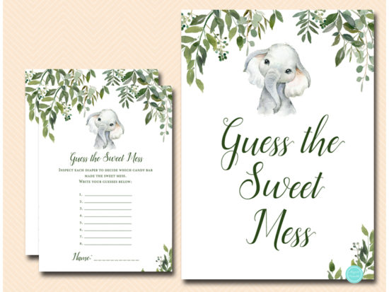 tlc663-guess-sweet-mess-sign-safari-elephant-baby-shower-game
