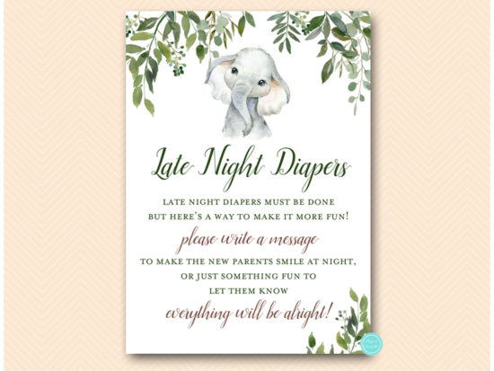 tlc663-late-night-diapers-safari-elephant-baby-shower-game