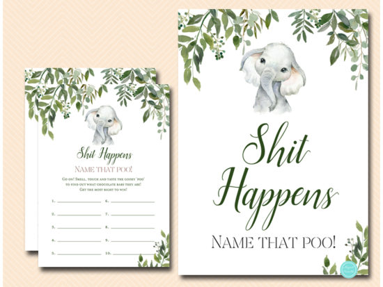 tlc663-shit-happens-sign-jungle-elephant-baby-shower-game