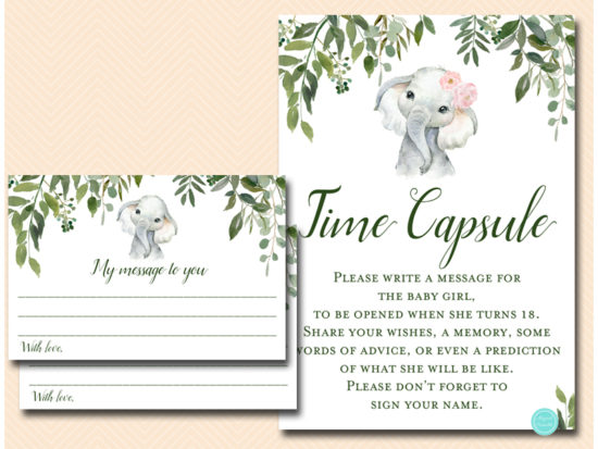 tlc663-time-capsule-girl-pink-elephant-baby-shower-game