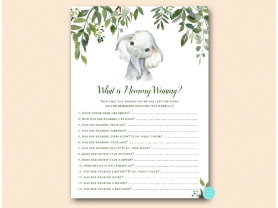 tlc663-what-is-mommy-wearing-cute-elephant-baby-shower-game