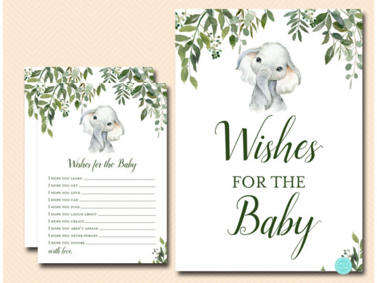tlc663-wishes-for-baby-sign-cute-elephant-baby-shower-game