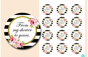 from my shower to yours tags floral black and gold