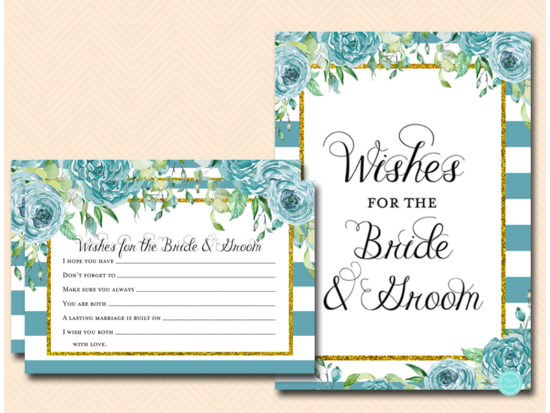 bs588t-wishes-for-bride-groom-sign-teal-gold-bridal-shower-game