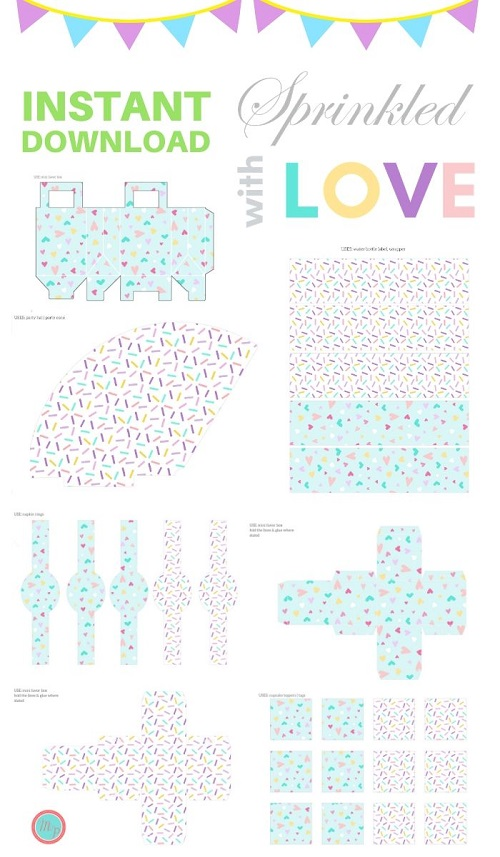 sprinkled with love baby shower printable