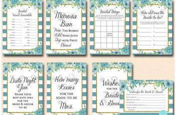 teal-floral-and-gold-bridal-shower-package-games-and-signs