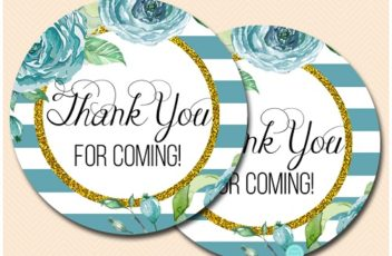 circle-2-inches-thank-you-for-coming-teal-and-gold