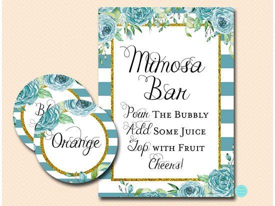 sign-mimosa-bar-teal-gold-bridal-shower-sign