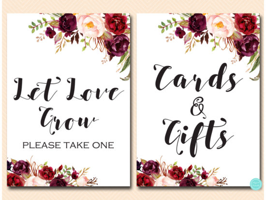 bs649-sign-cards-gifts-burgundy-boho-floral-table-sign