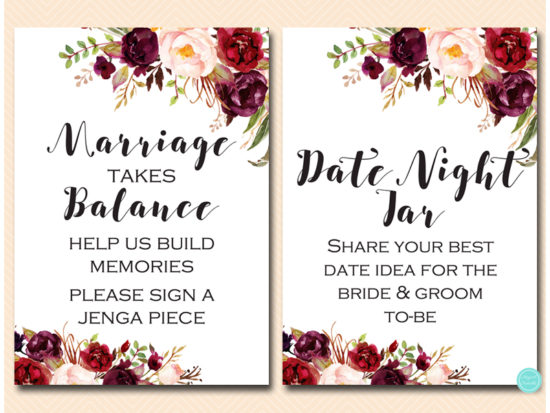 bs649-sign-date-idea-burgundy-boho-floral-table-sign
