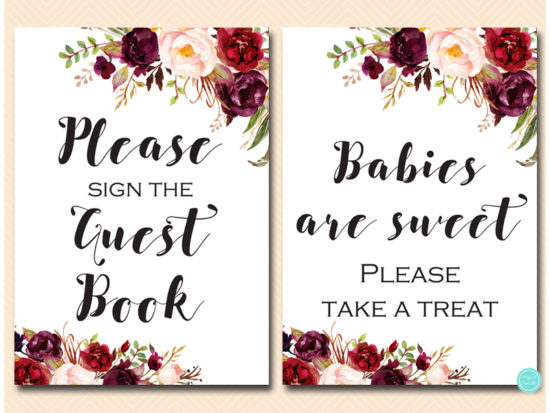 bs649-sign-guestbook-burgundy-boho-floral-table-sign