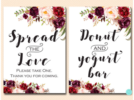 bs649-sign-spread-love-take-treat-burgundy-boho-floral-table-sign