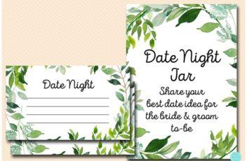 date-night-jar-sign-greenery-botanical-bridal-shower