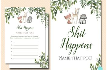shit happens baby shower game