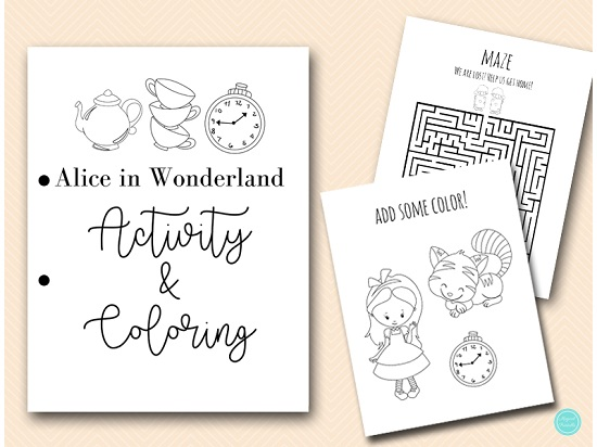 alice-in-wonderland-activities-and-coloring-book-sheets