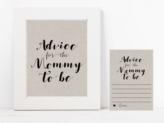tlc596g-advice-for-mommy-sign-grey-modern-baby-shower-game