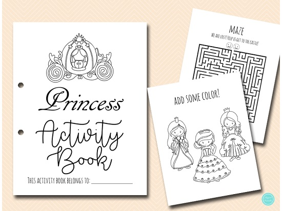 princess-activity-and-coloring-book-printable-download
