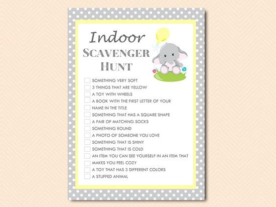 gray-yellow-elephant-indoor-at-home-games-signature-bingo-scavenger-hunt