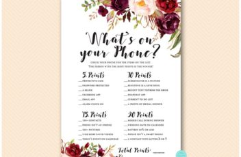 burgundy-floral-bridal-shower-whats-on-your-phone