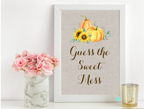 tlc681-guess-the-sweet-mess-sign-sunflower-pumpkin-theme