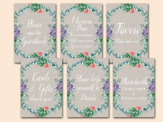 succulent-party-table-signs-pack