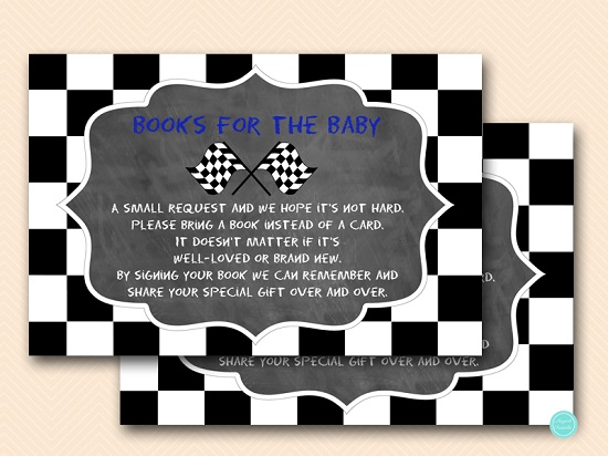 chalkboard-racing-car-baby-shower-books-for-baby-navy