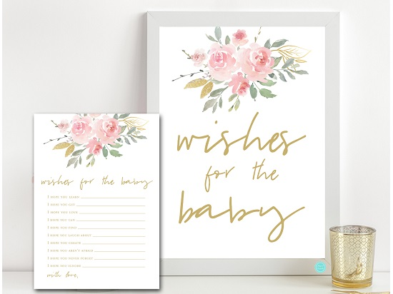 tlc685-wishes-for-baby-sign-pink-blush-and-gold-baby-shower